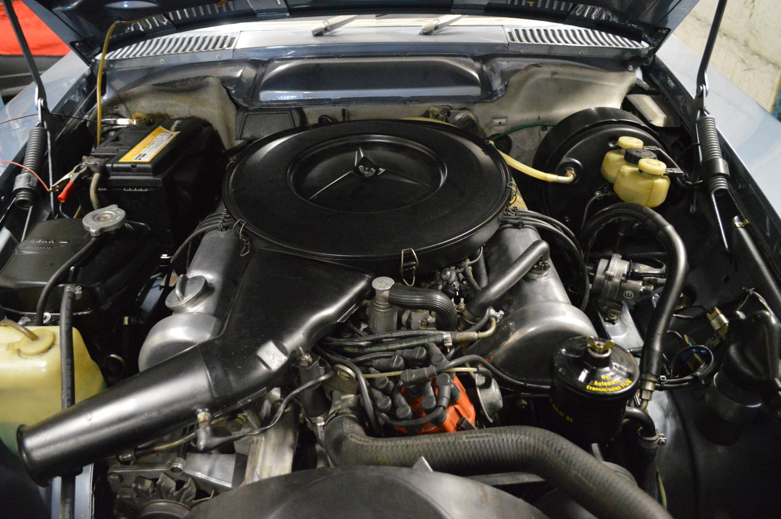 MB 350 SL Motor eingebaut