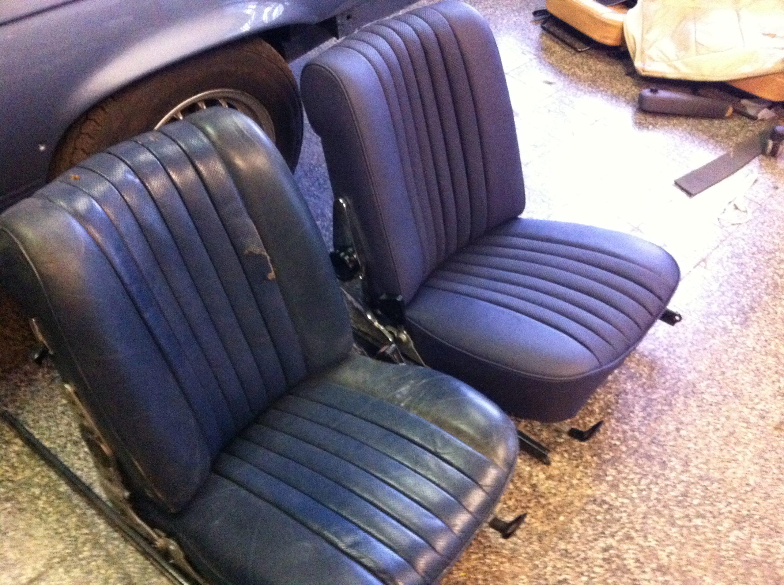 MB 350 SL Sitze vorher - nachher